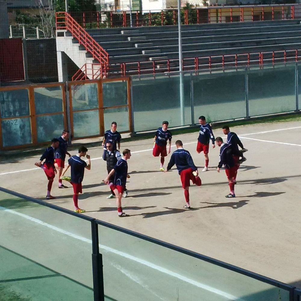 Caulonia calcio allenamento interna 1