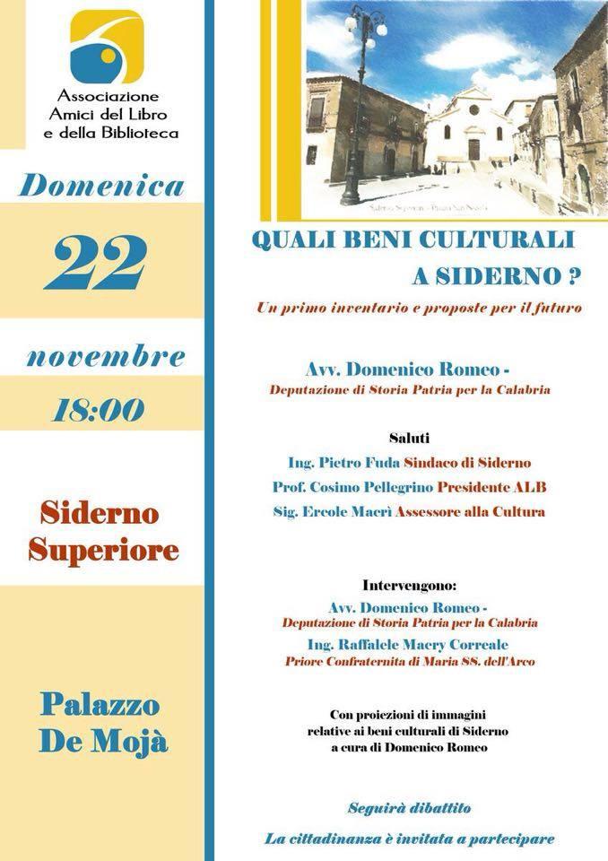 ALB Siderno Superiore beni culturali