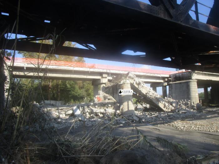 Il ponte Allaro è stato demolito