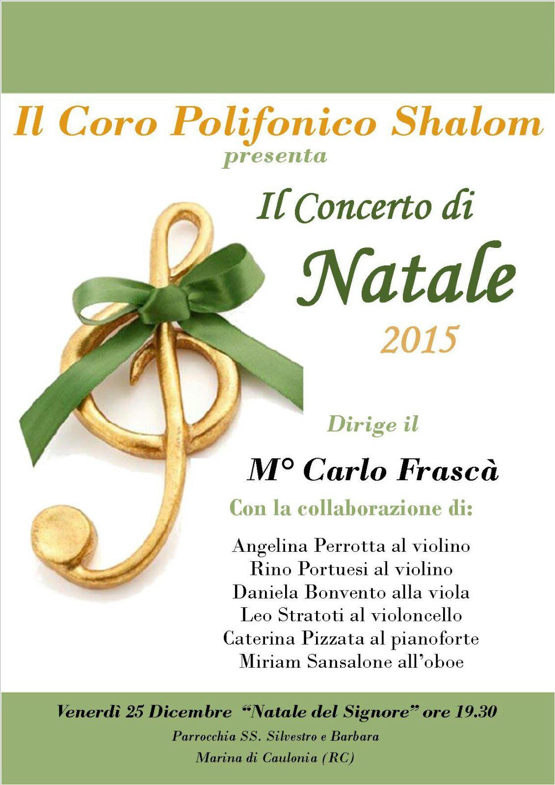 locandina coro shalom natale