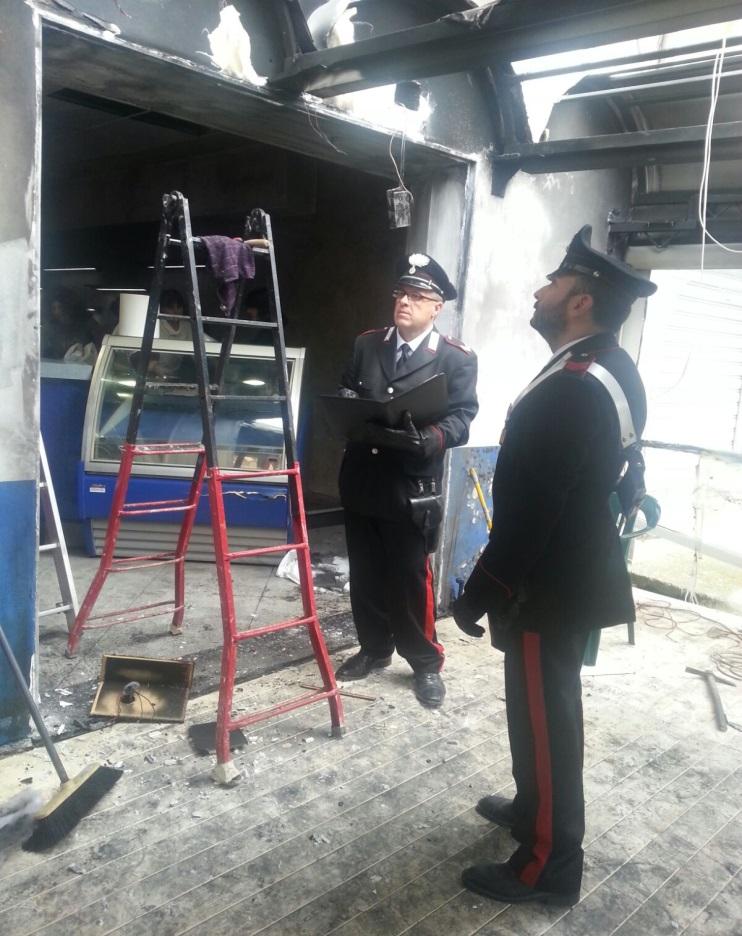 Il sopralluogo dei Carabinieri