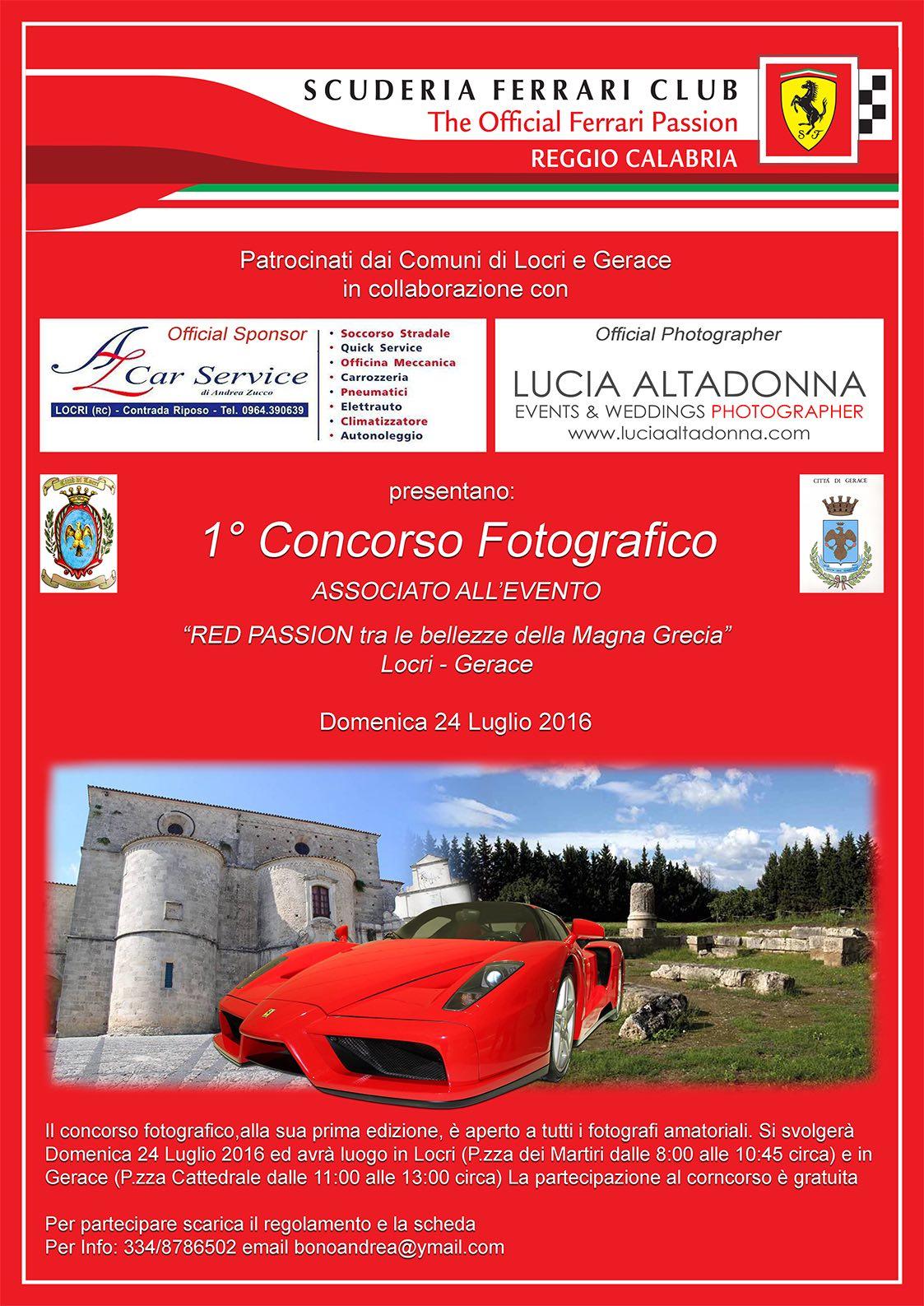 1° CONCORSO FOTOGRAFICO gerace scuderia ferrari club red passion