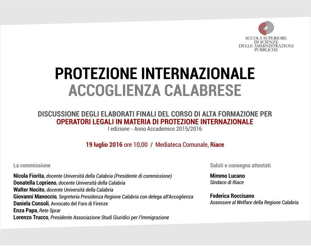 protezione internazionale accolienza calabrese