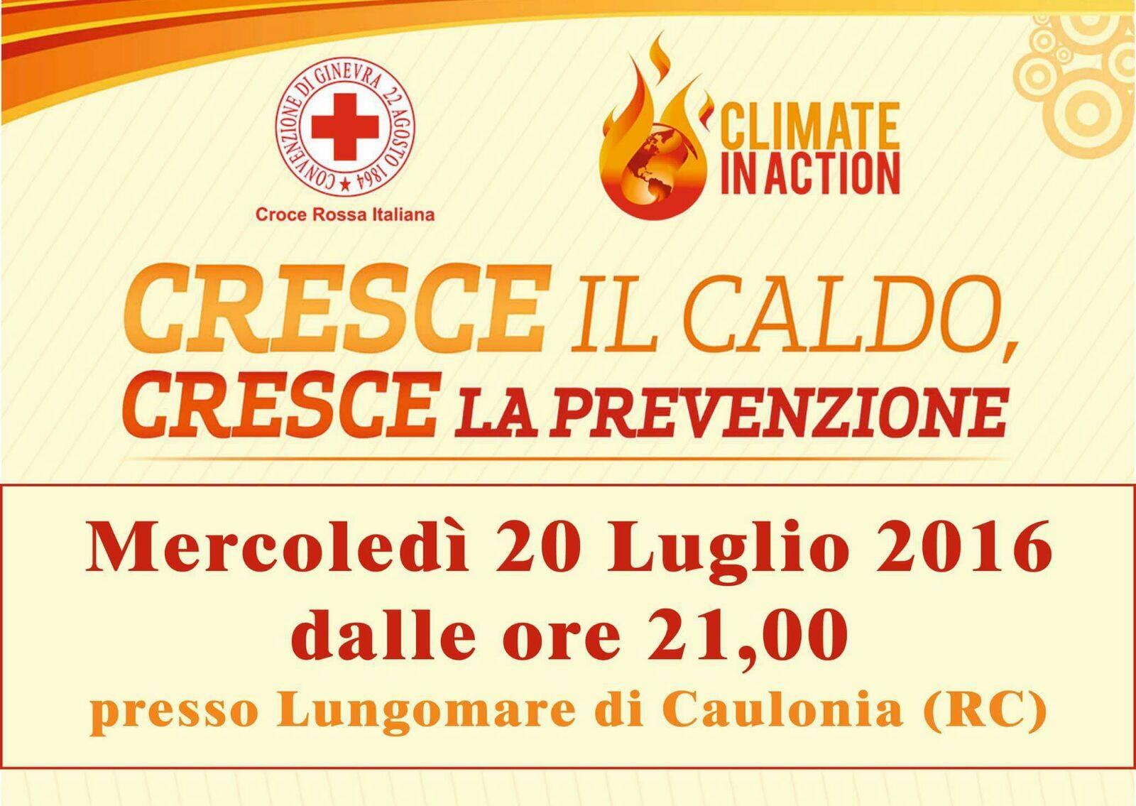 manifestazione croce rossa italiana caldo prevenzione