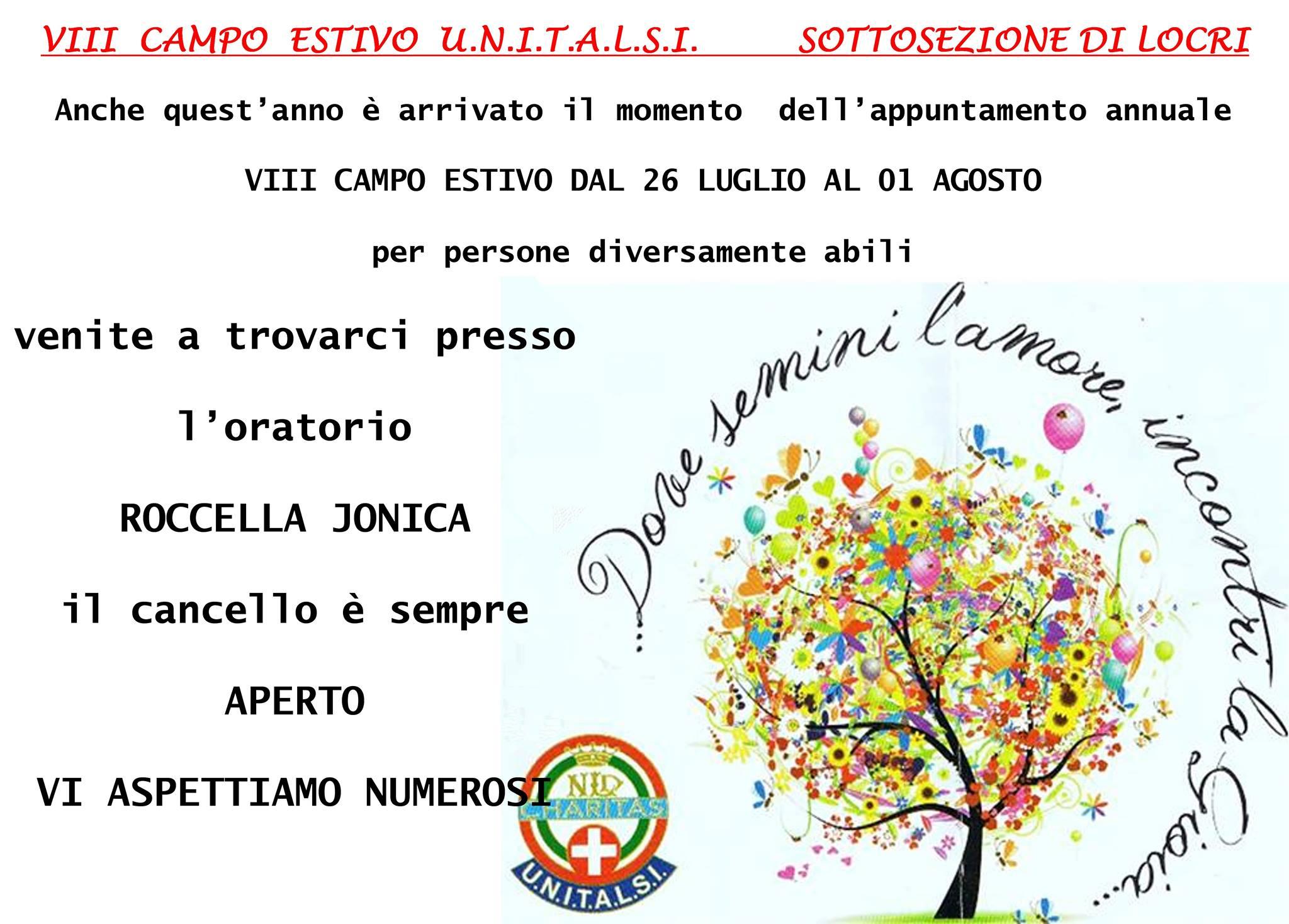 UNITALSI ANNUNCIO CAMPO ESTIVO13833453_1190379627648885_1694339383_o