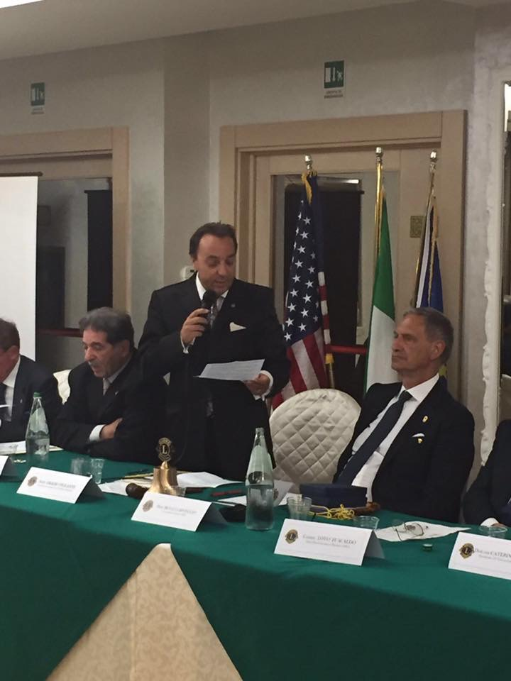 club lions passaggio campana Violante subentra a Futia