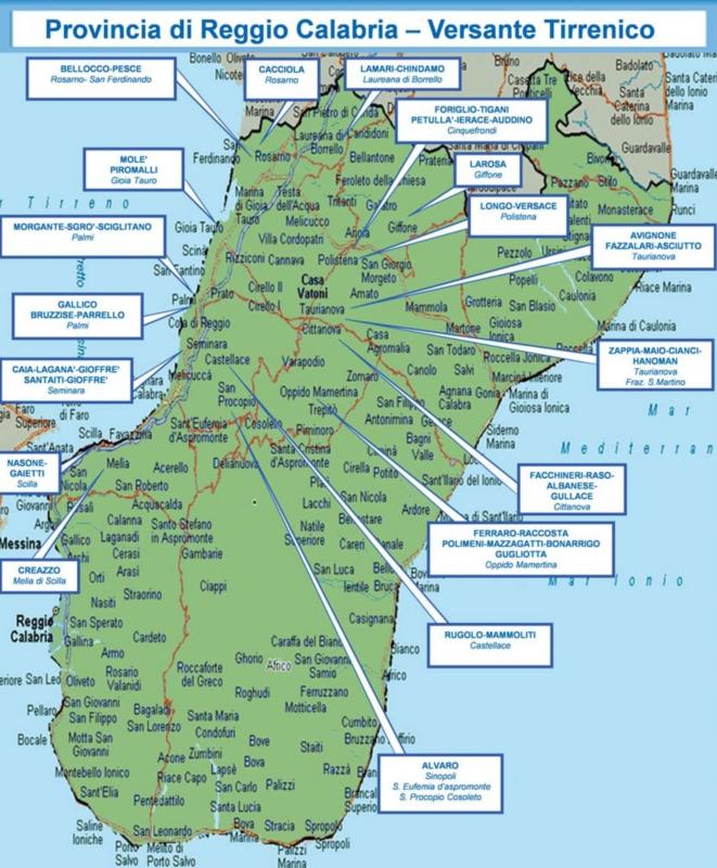 DIA-reggio-ionio-2016 mappa cosche
