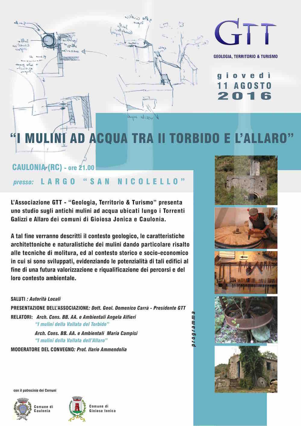 Locandina_convegno_GTT-2 caulonia i mulini ad acqua tra il torbido e l'allaro
