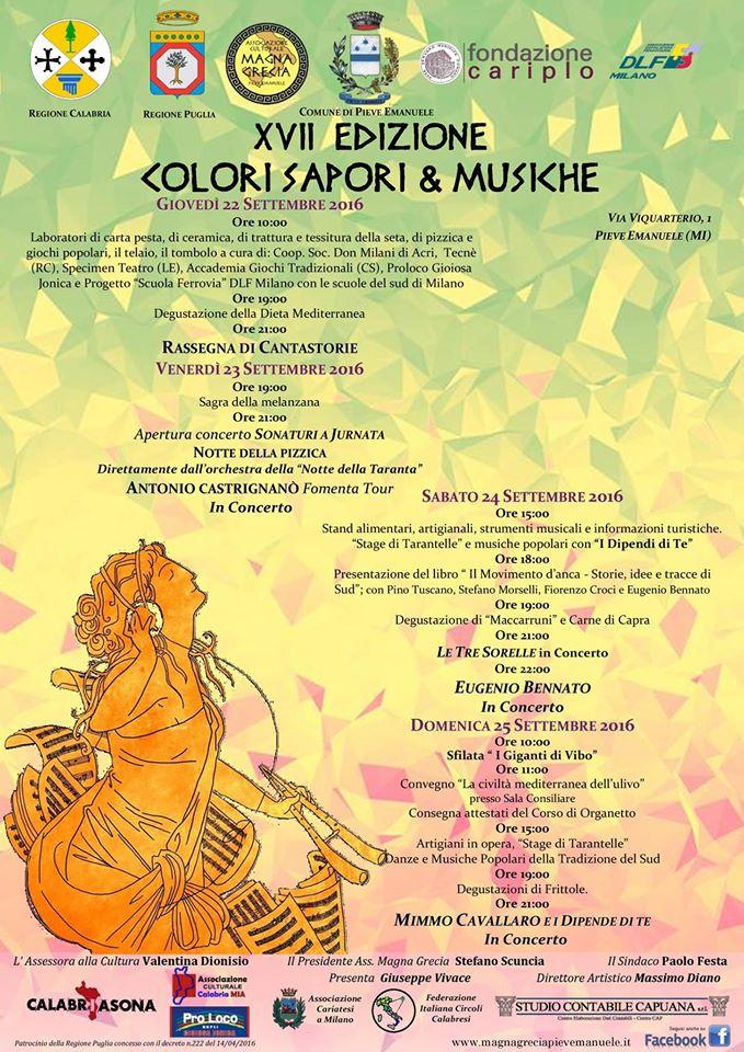 locandina colori, sapori & musiche Comune di Pieve Emanuele