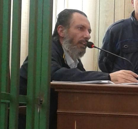 Cosimo Cherubino durante il processo