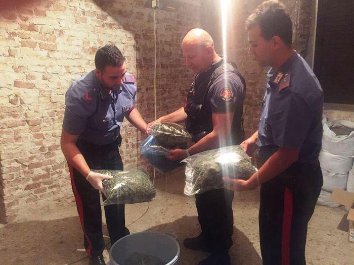Carabinieri sequestrano droga a Melicucco