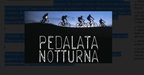 pedalata notturna