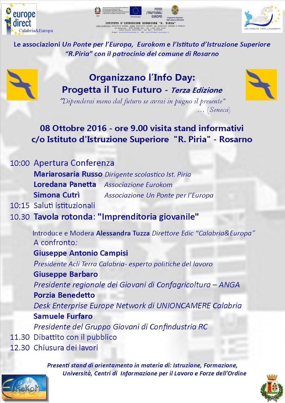 Info Day Progetta il tuo Futuro con l'Edic Calabria&Europa a Rosarno locandina-08-ottobre-info-day
