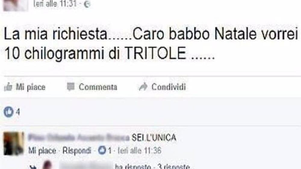 """""""Ph: il post su Facebook - Foto da Corriere.it"""""""