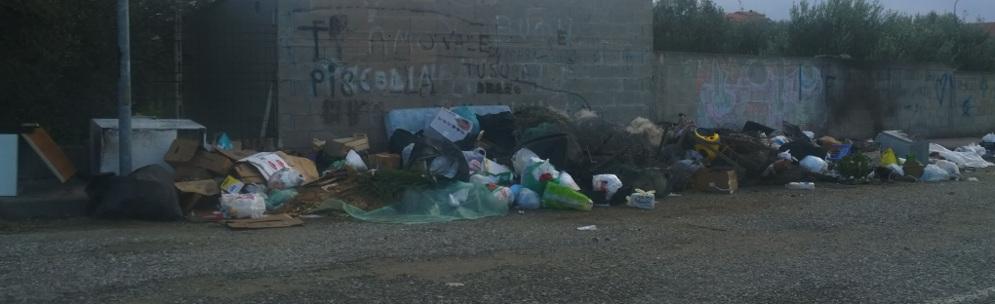 siderno piazza mercato rifiuti evid